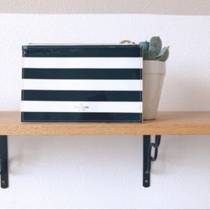 Kate Spade Striped Zippered Pouch